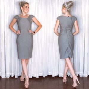 Grey Business Professional Dress Antonio Melani